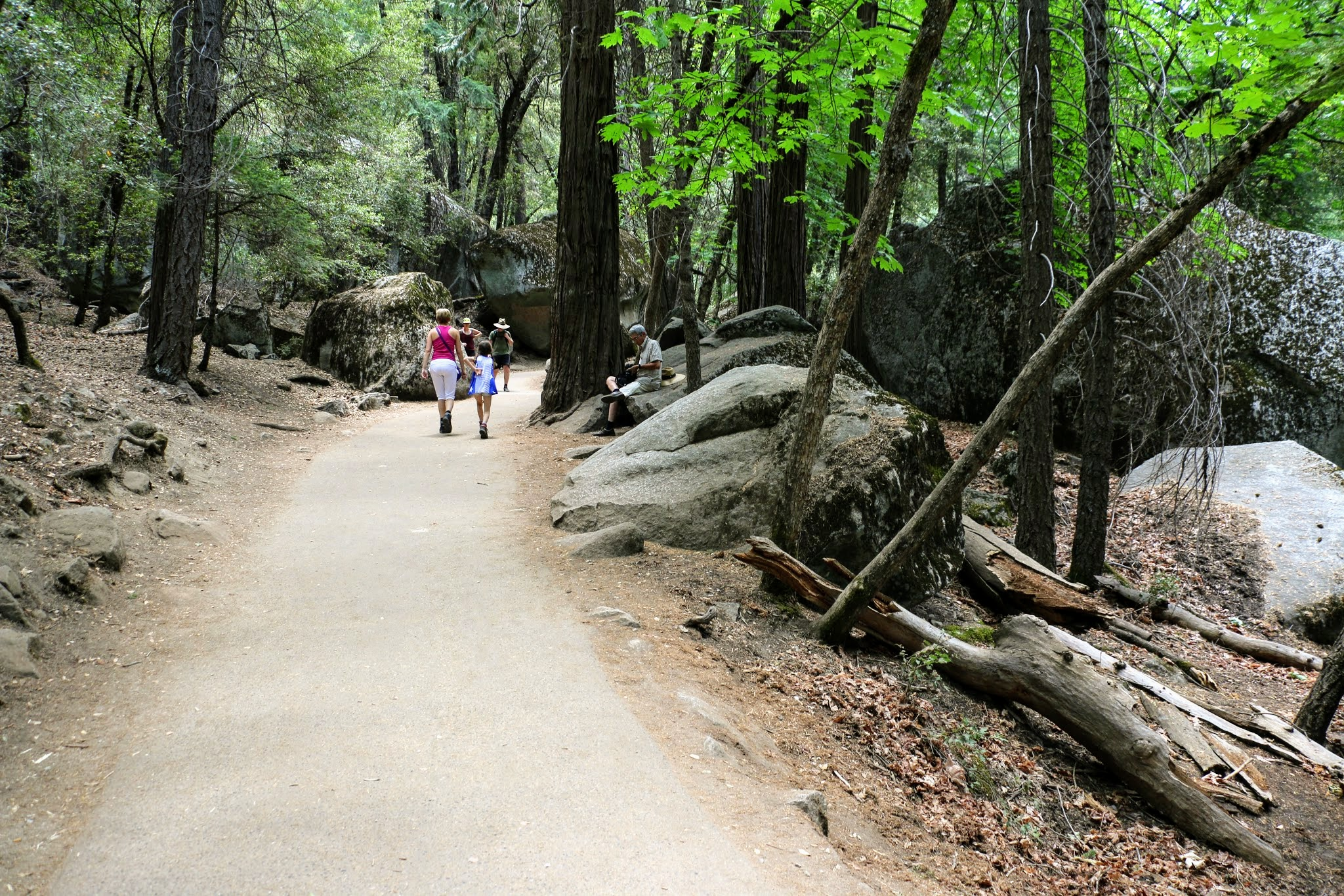 Wandeling Vernal Fall Yosemite