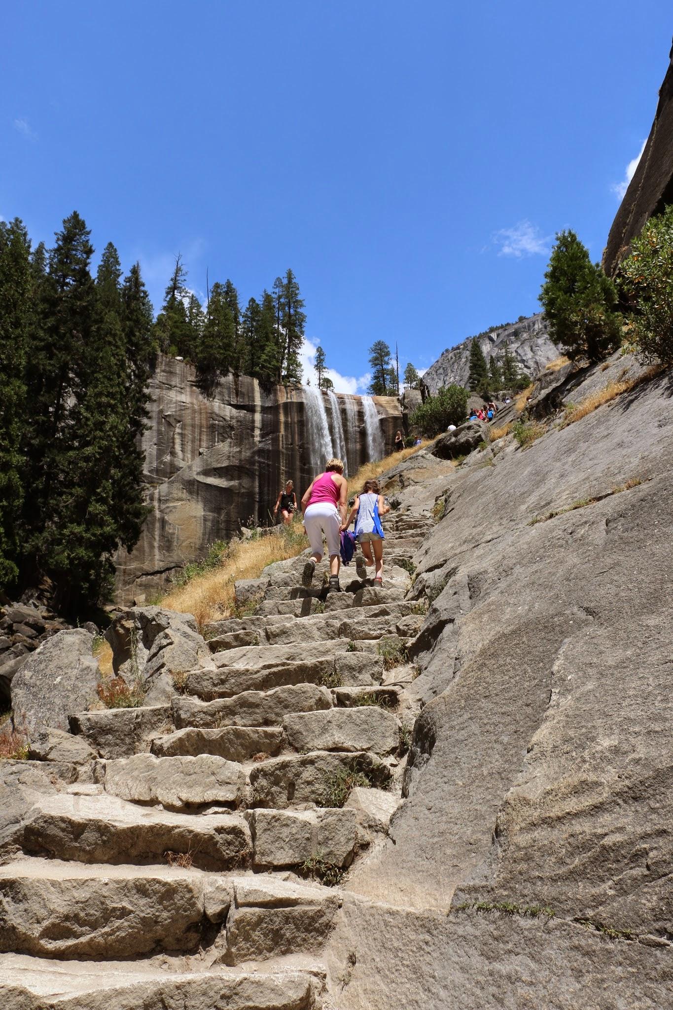 Wandeling naar de Vernal Fall in Yosemite