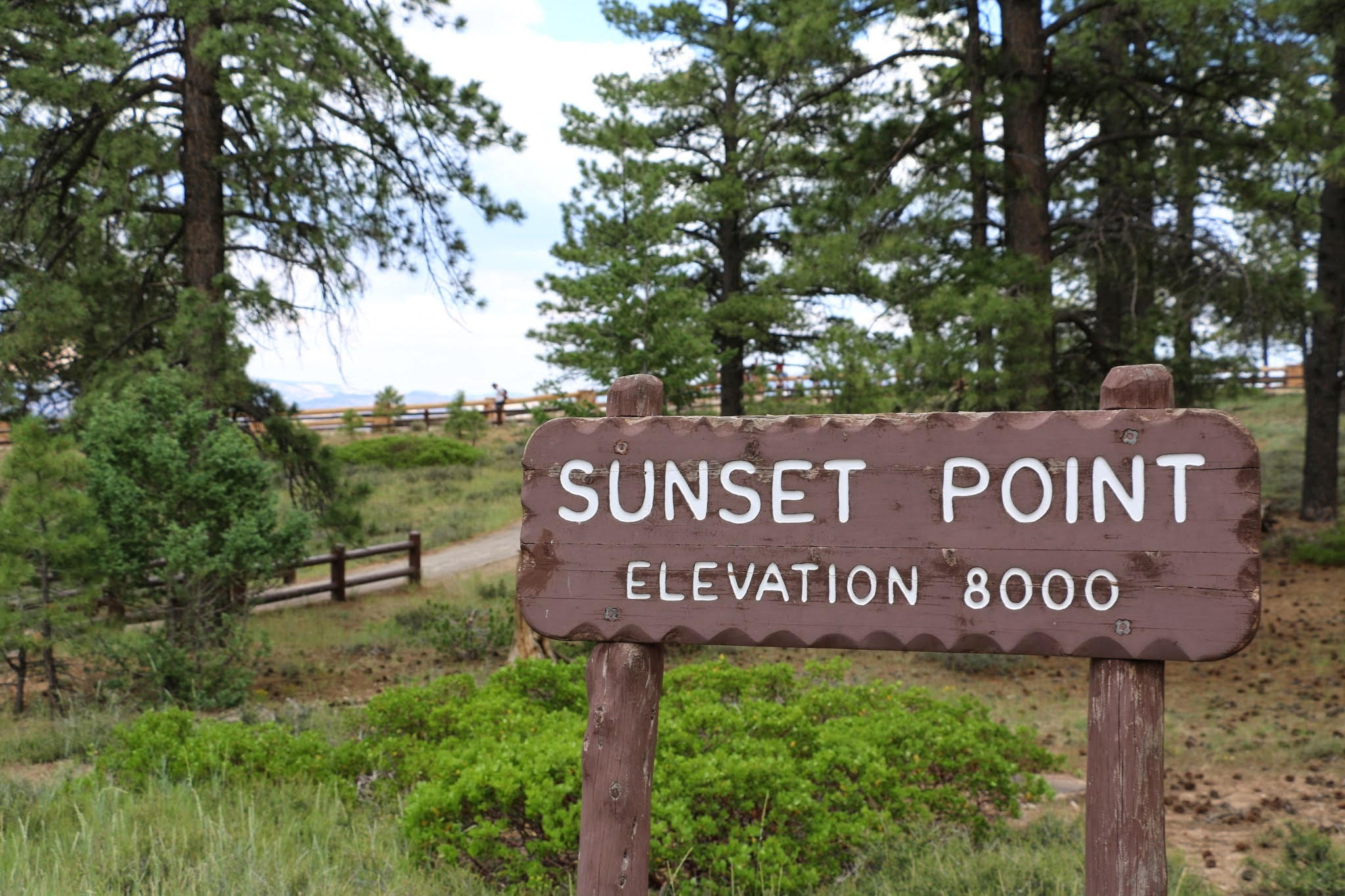 Sunset Point Bryce Canyon Elevation 8000