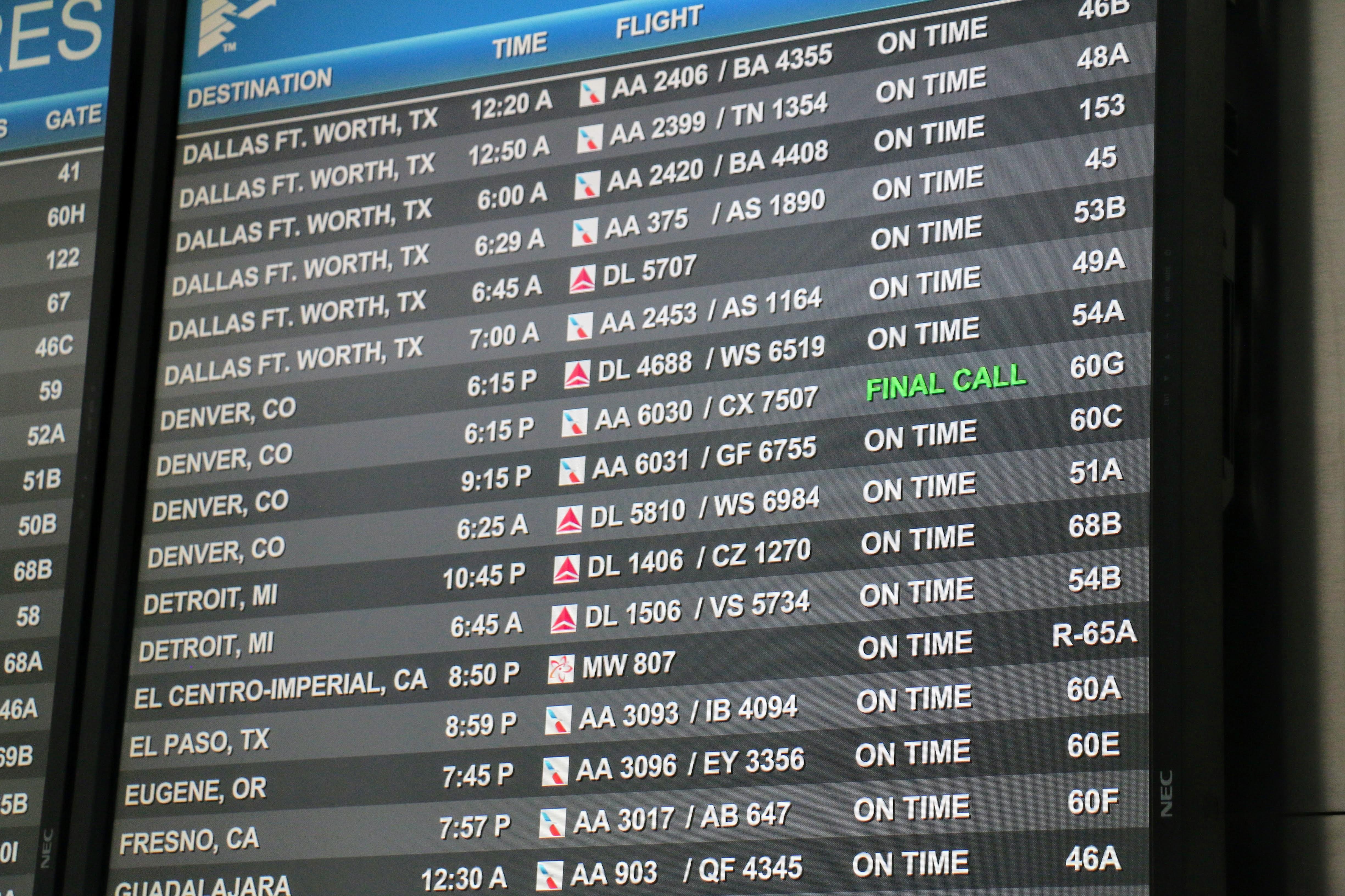 Yellowstone waar op vliegen?