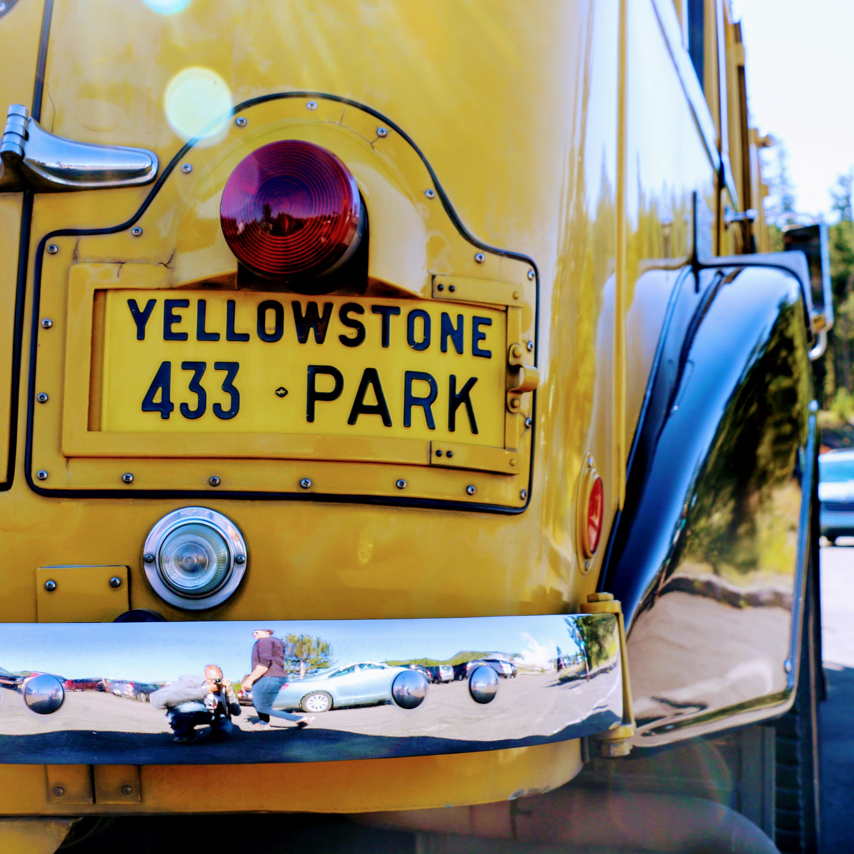 Yellow Bus Tour Yellowstone National Park