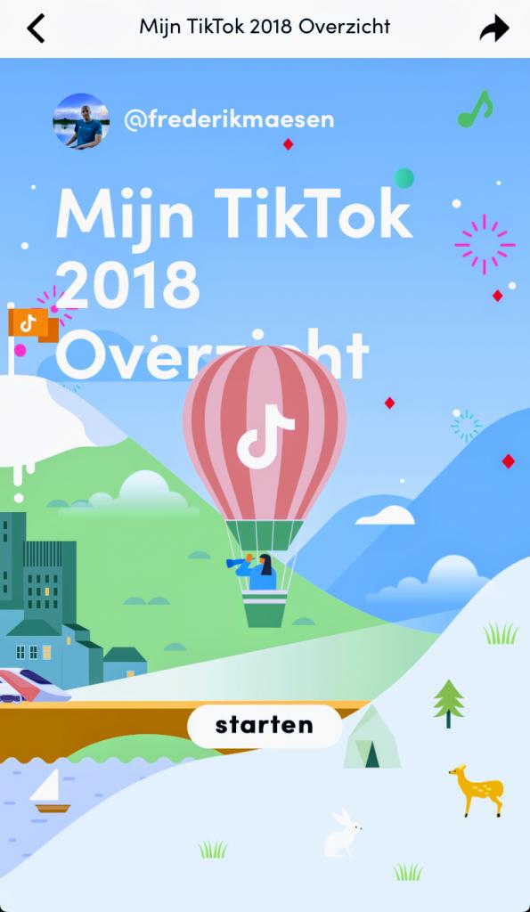 Mijn TikTok 2018 overzicht