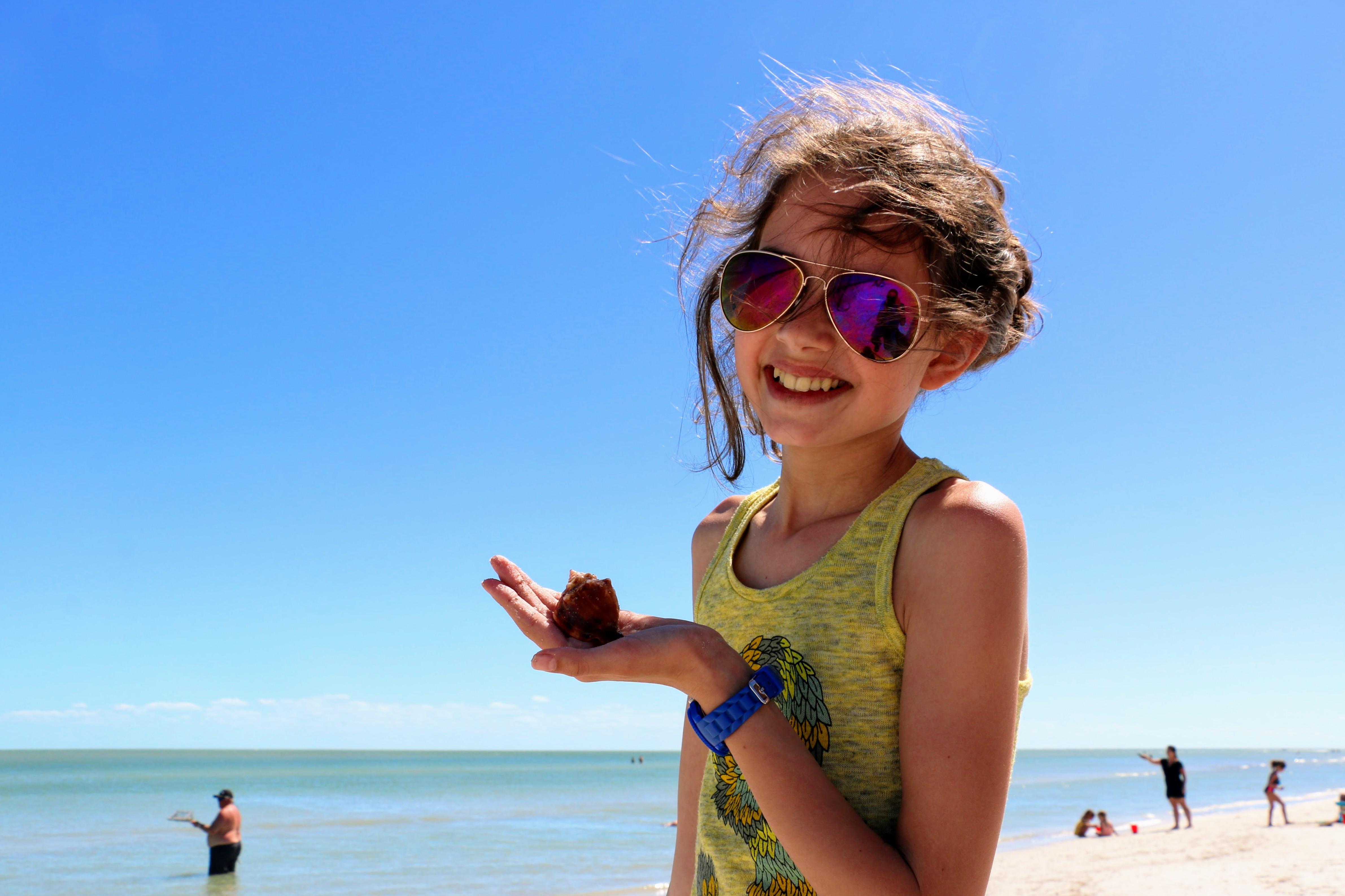 Florida met kind - schelpen zoeken op Sanibel Island