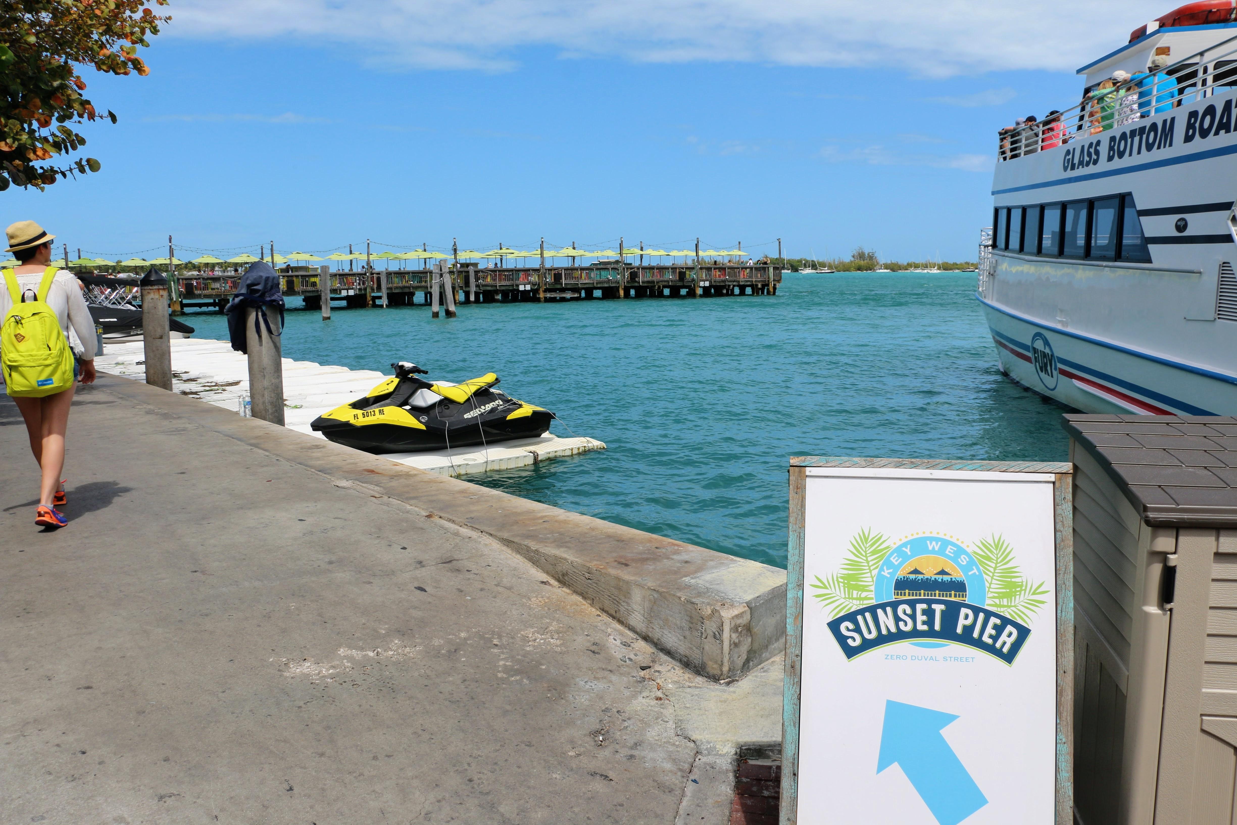 Waar ligt Sunset Pier bij Key West?