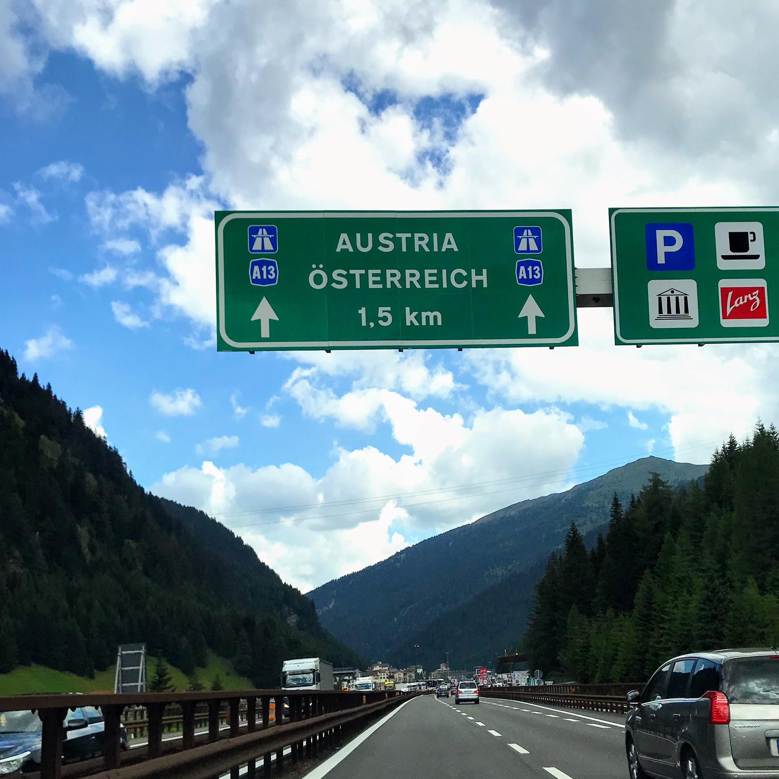 Naar Gardameer via Zwitserland of Oostenrijk