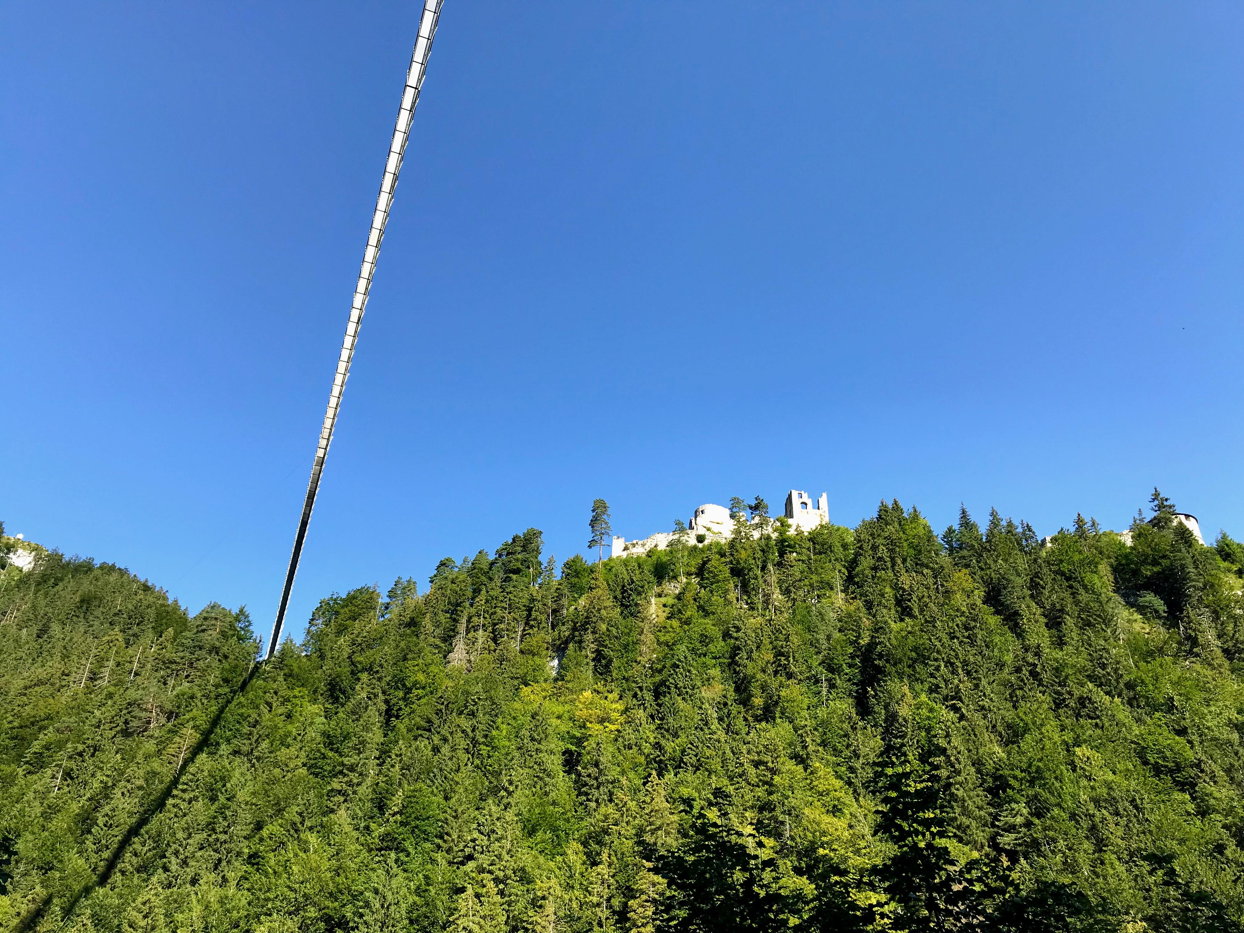 Hangbrug boven de Fernpass