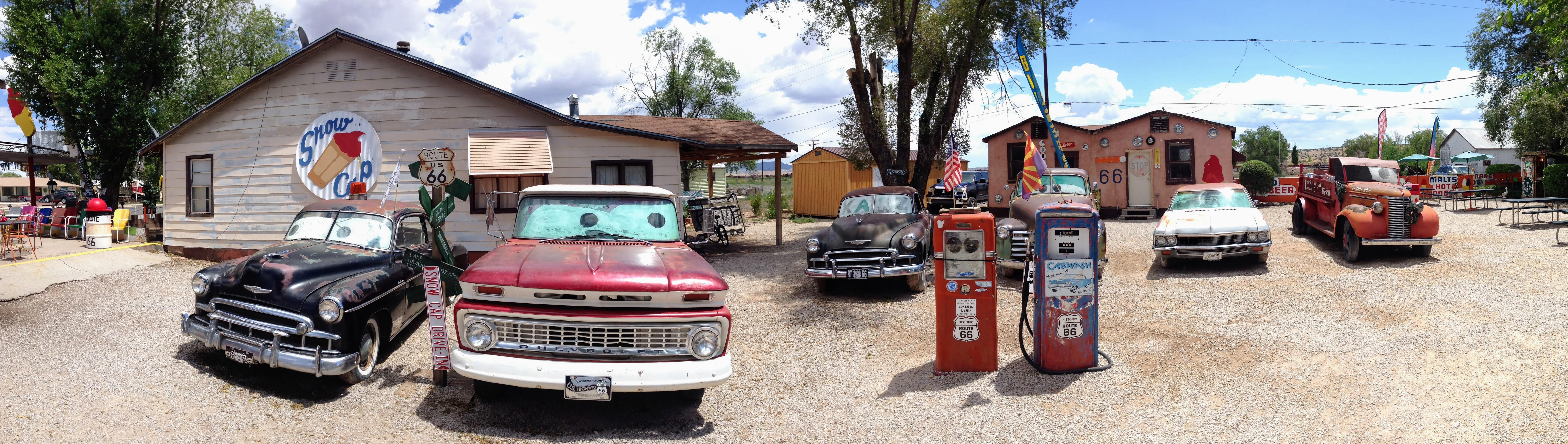 Oldtimers langs Route 66