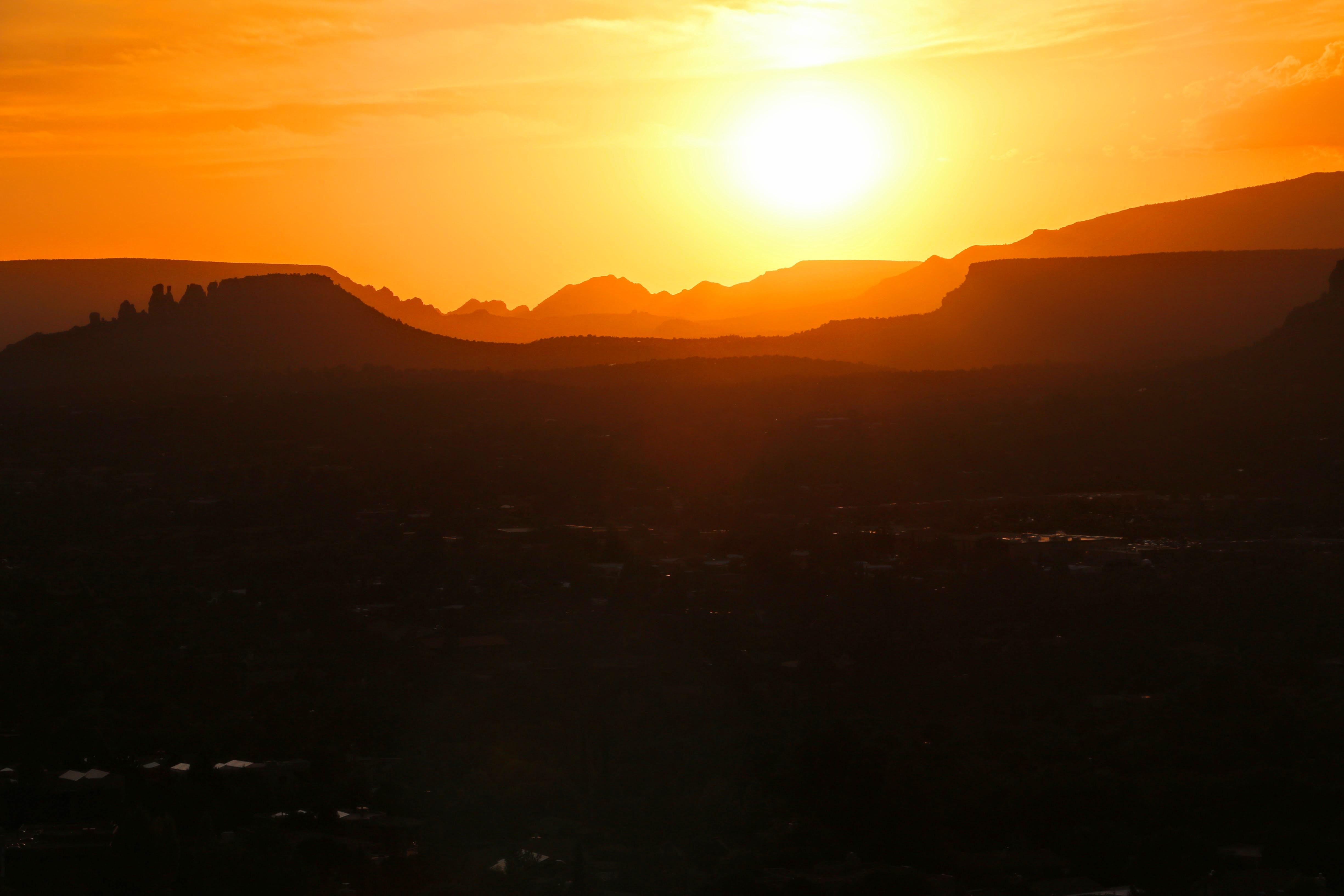 Een magische zonsondergang in Sedona