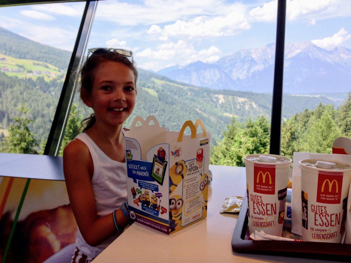 McDonald's met mooi uitzicht