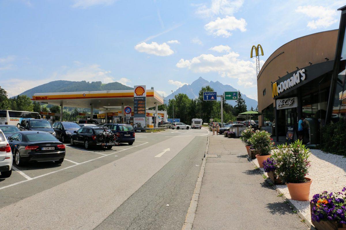 McDonald's Oostenrijk Brennerpas uitzicht