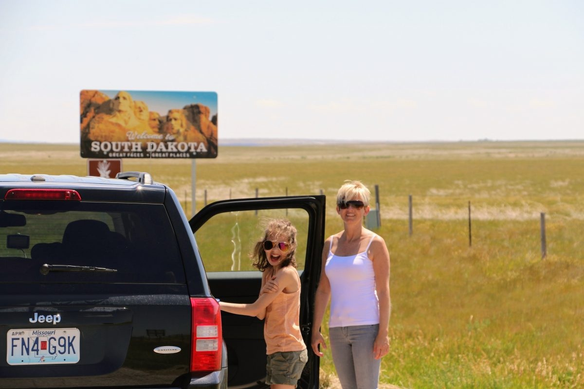 Via South Dakota naar Yellowstone