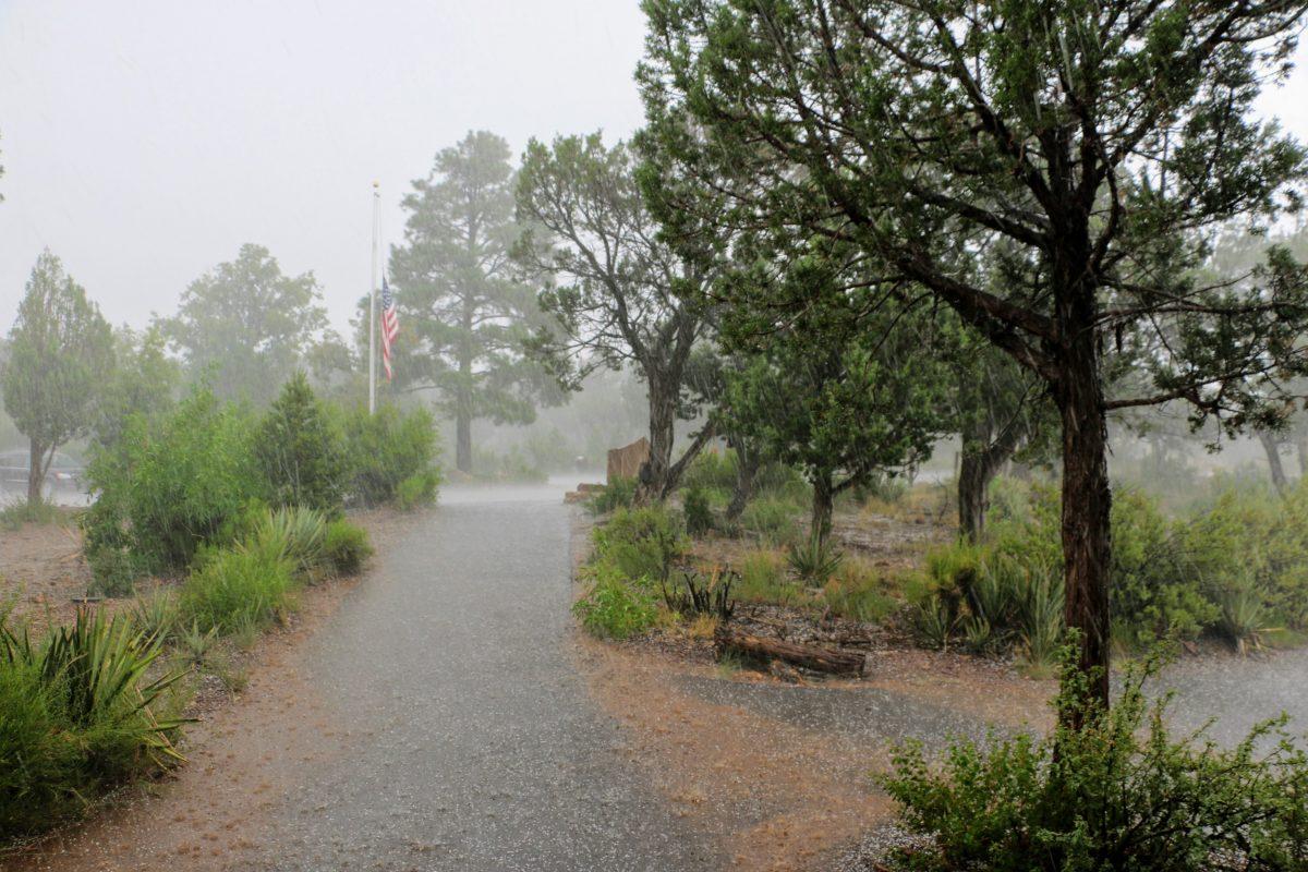 Warmte onweer Arizona