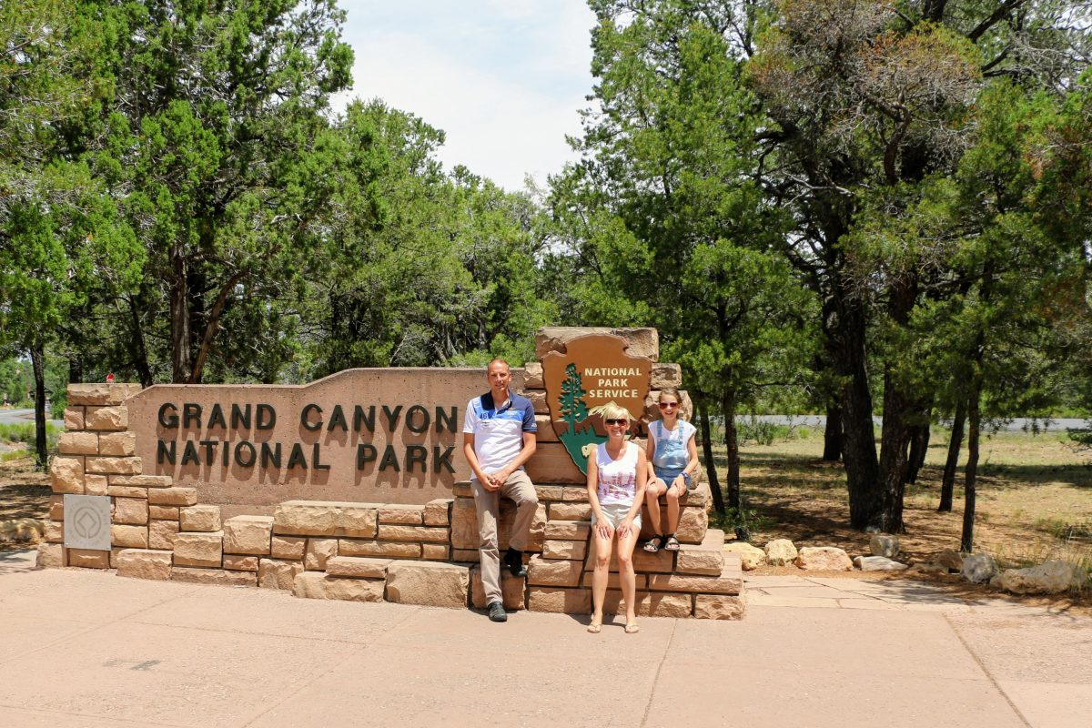 Grand Canyon National Park met kind