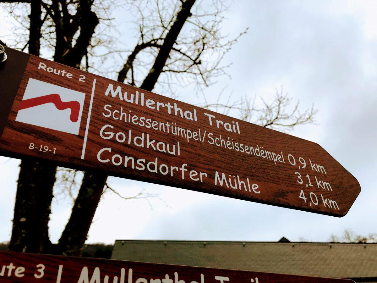 Mullerthal Trail wegwijzer