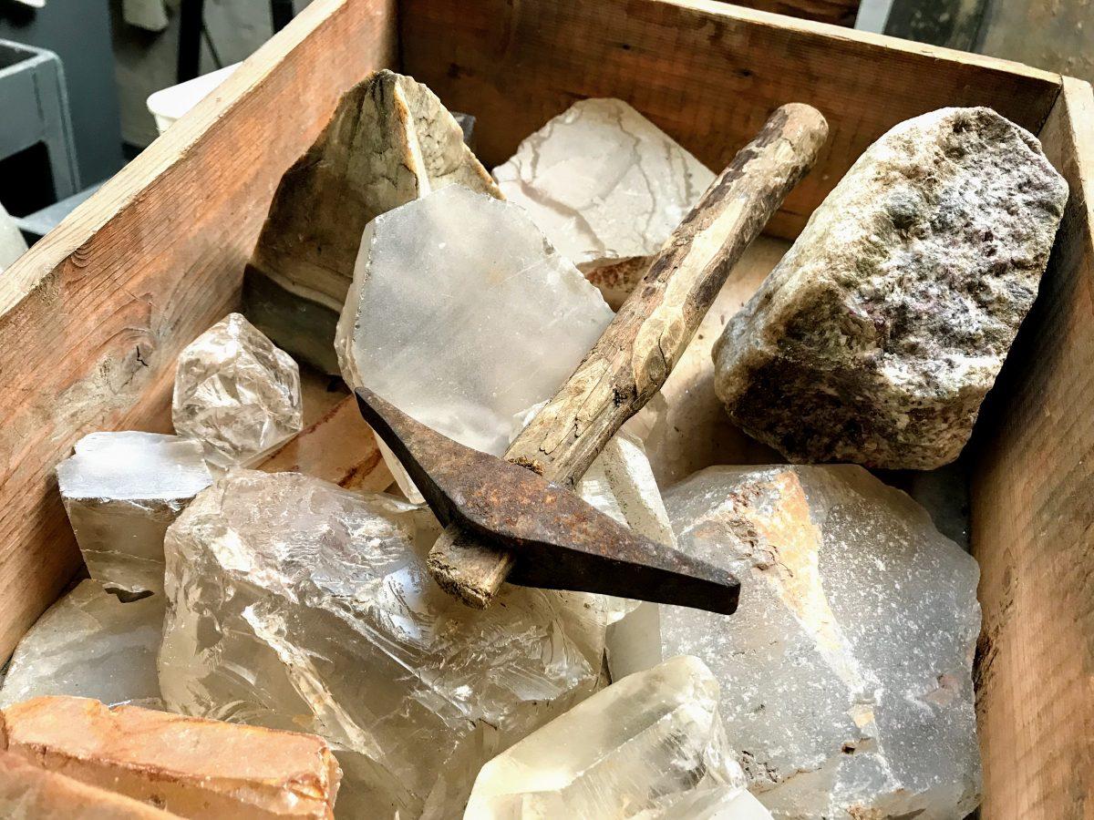 Edelstenen uit de edelsteenmijn van Idar-Oberstein in Duitsland