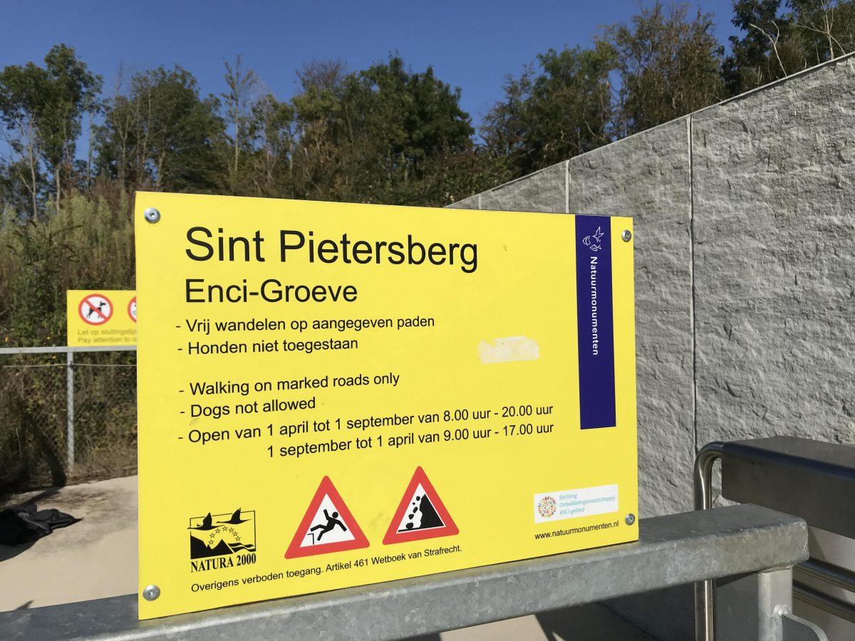 Sint Pietersberg Enci-groeve inkom