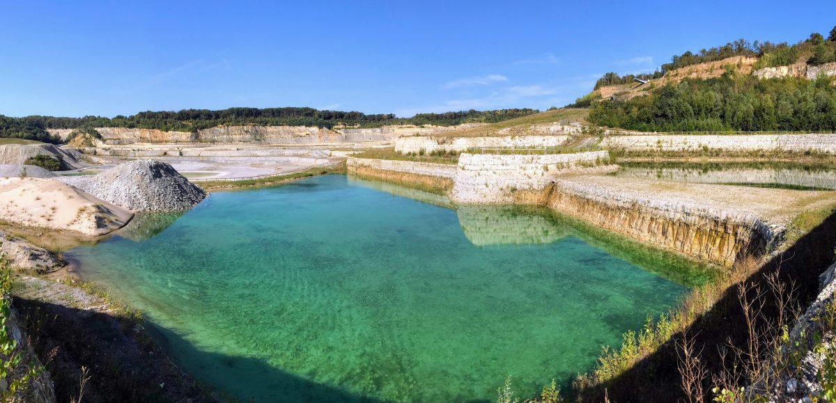 Water in mergelgroeve ENCI