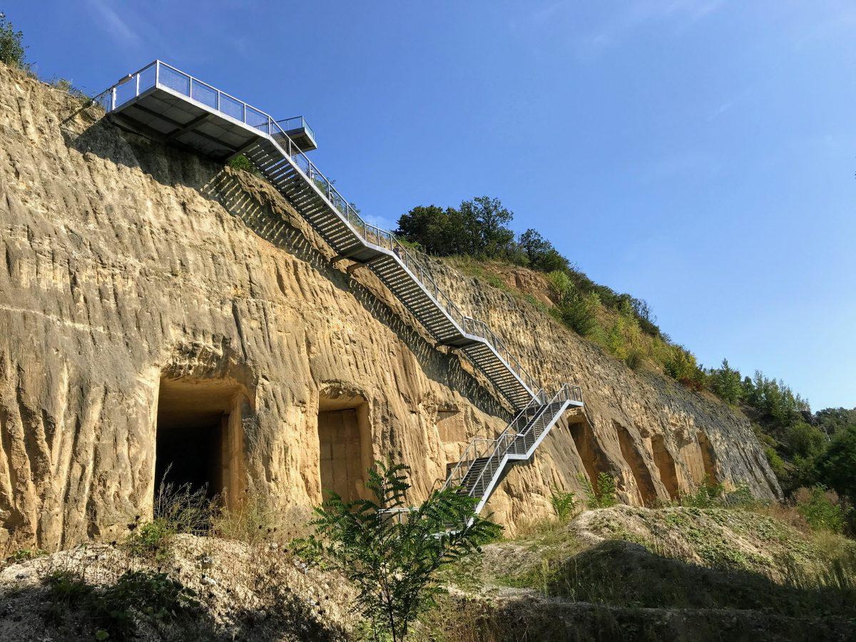 Trap en uitzichtplatform ENCI-groeve