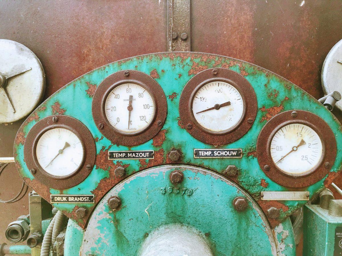 Machines oude stroopfabriek in Borgloon