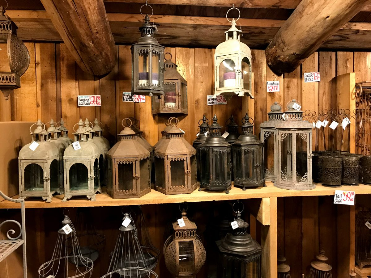 Mooie lantaarns in de Old County Market