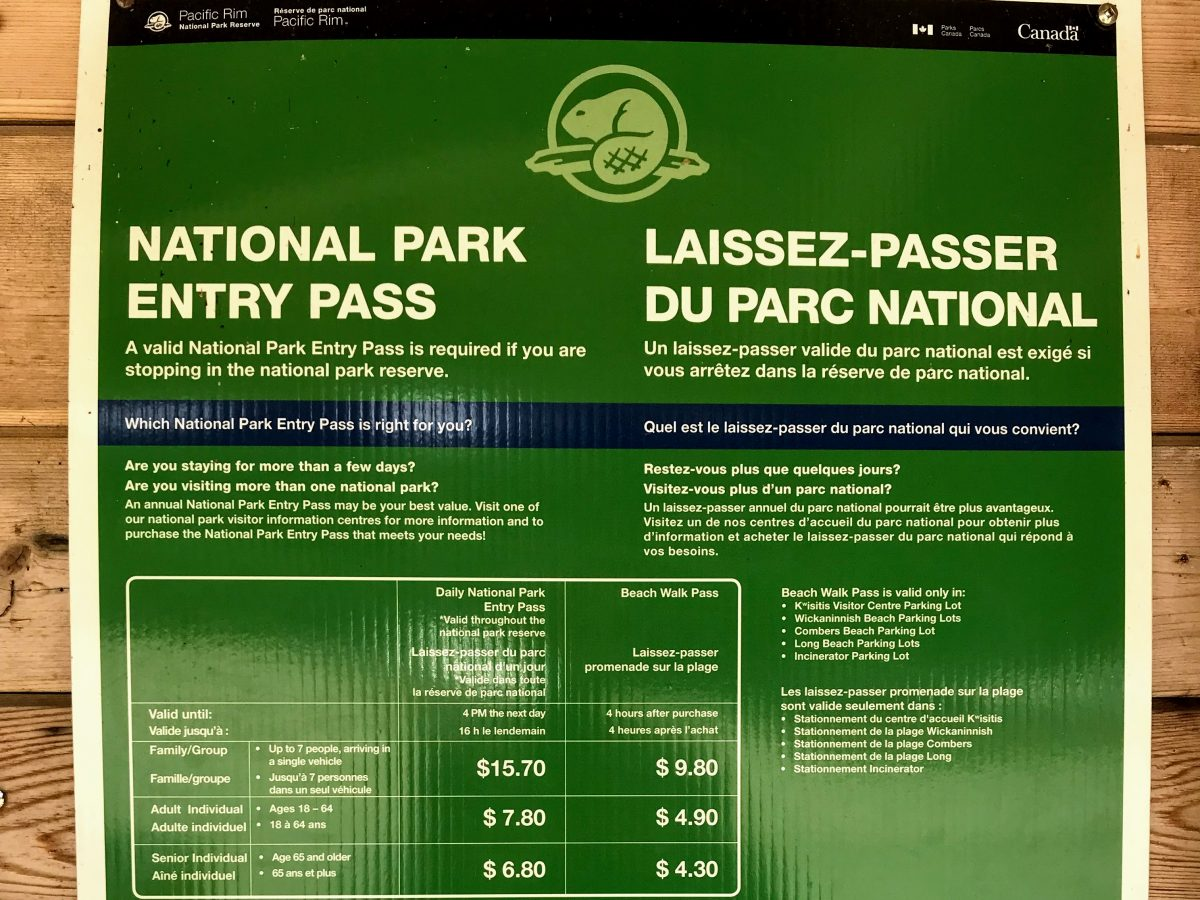 Canada National Park Entry Pass