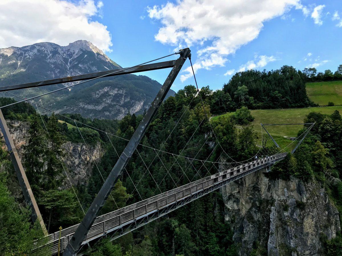 Hangbruggen in Oostenrijk - Benni-Raich Brücke