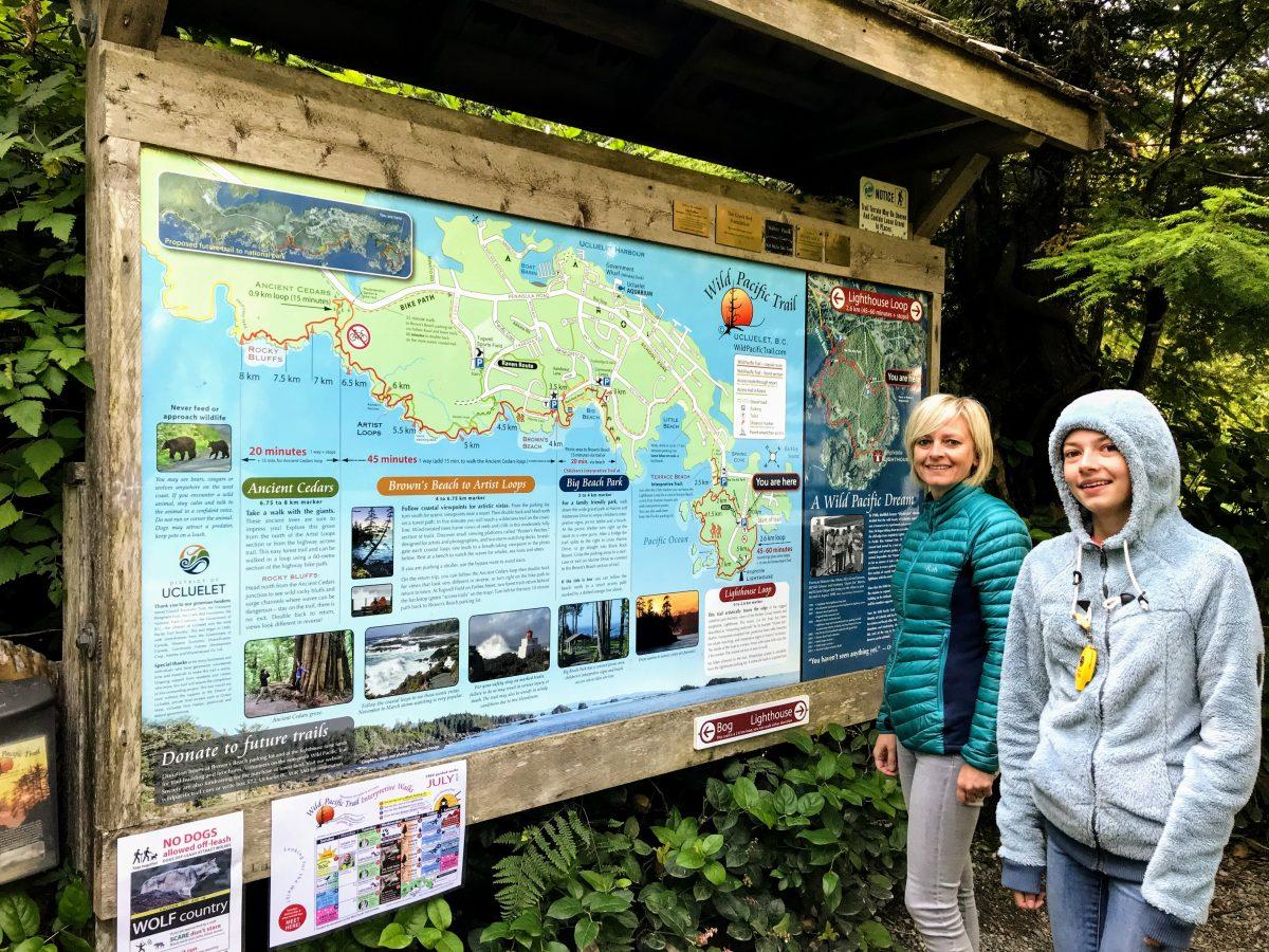 Wandelkaart Lighthouse loop Wild Pacific Trail Ucluelet