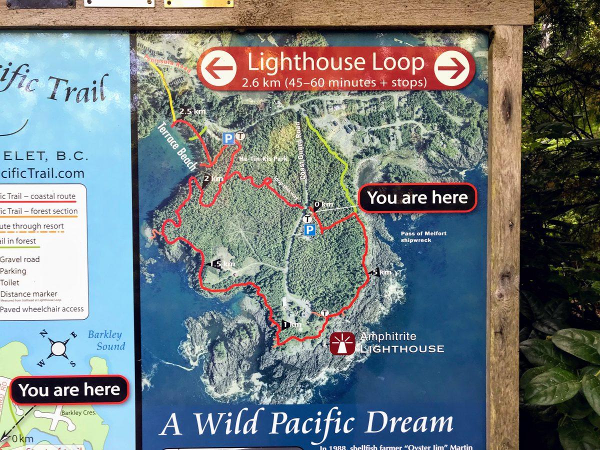 Lighthouse Loop wandelkaart