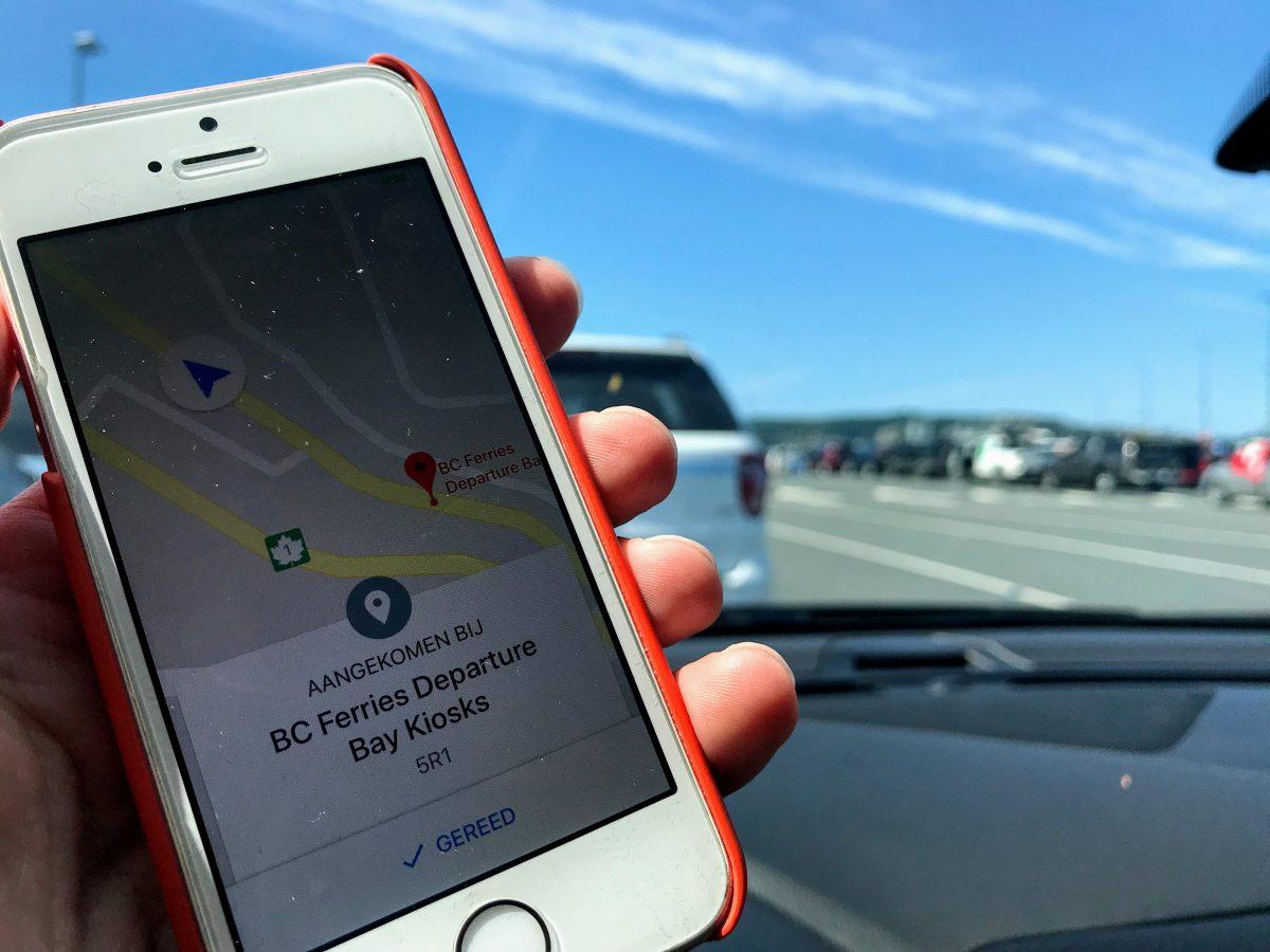 Roadtrip Canada met Google Maps
