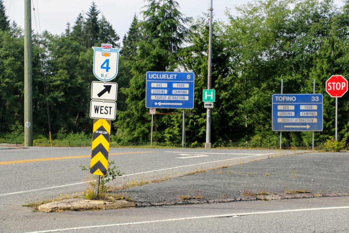 Highway 4 op Vancouver Island richting Tofino