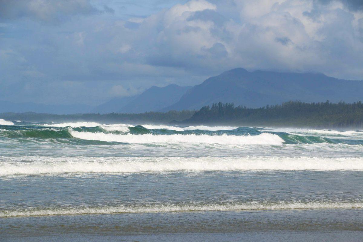Hoge golven in Ucluelet