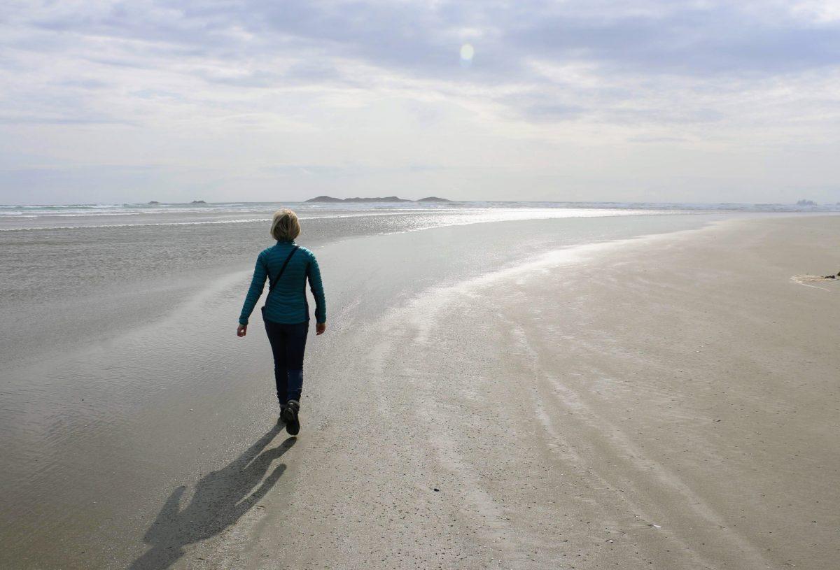 Wandelen op Combers Beach