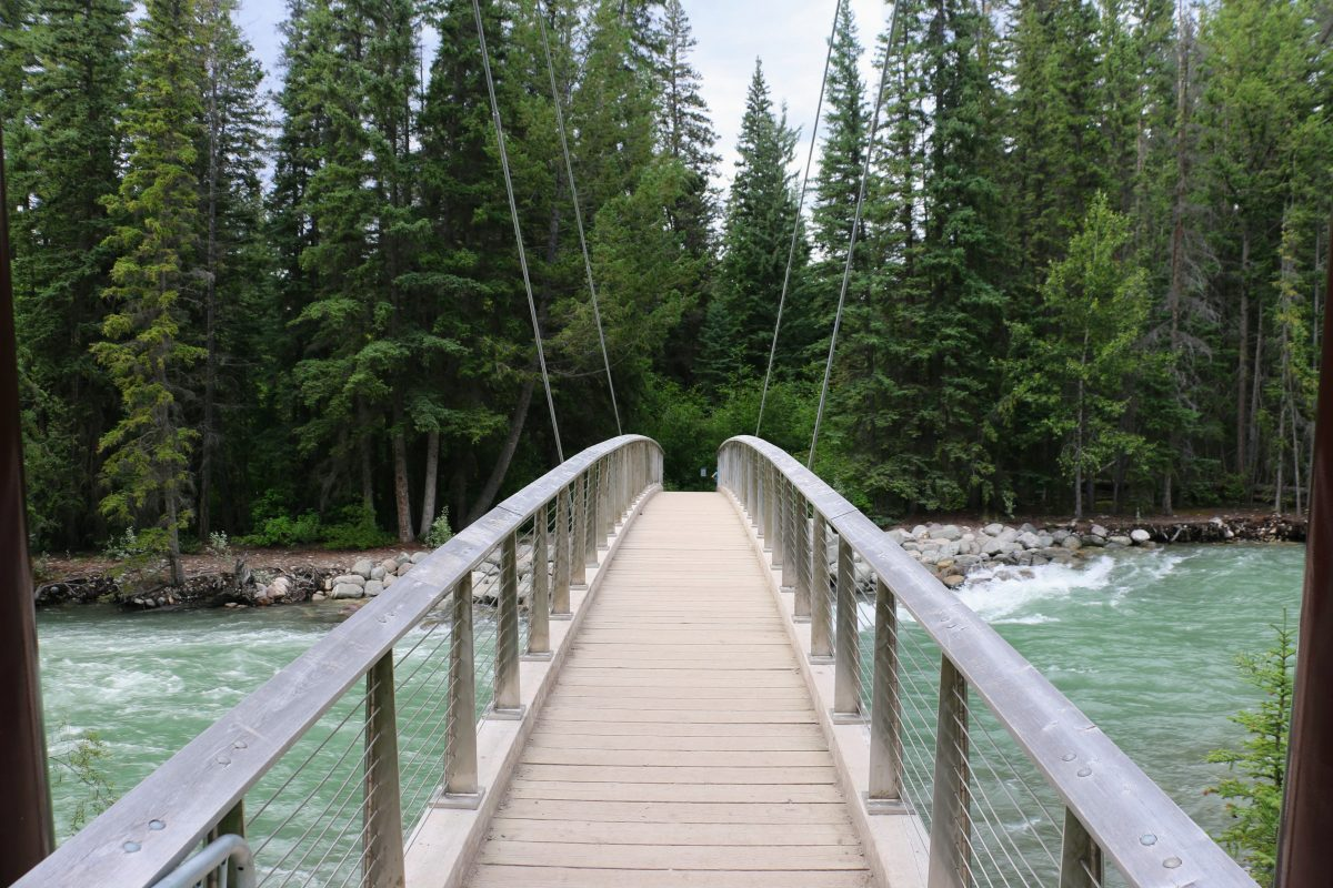 Maligne Canyon Suspension Bridge