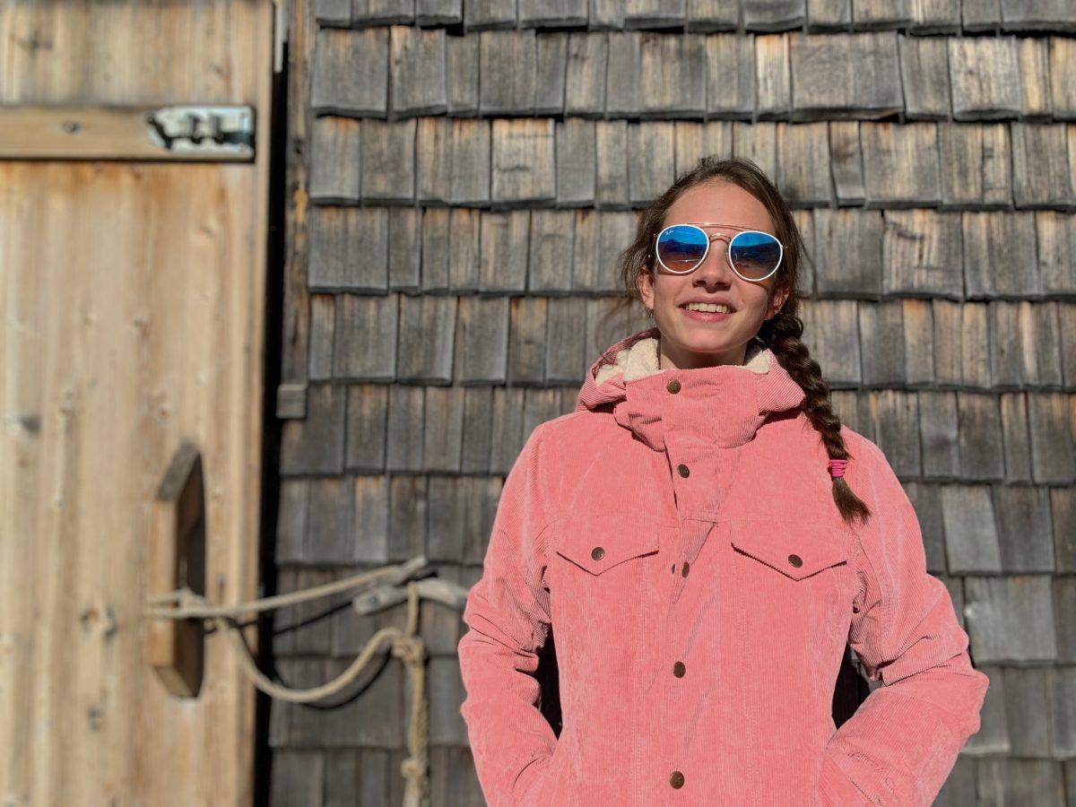 Cutie Ribstof ski-jas Think Pink