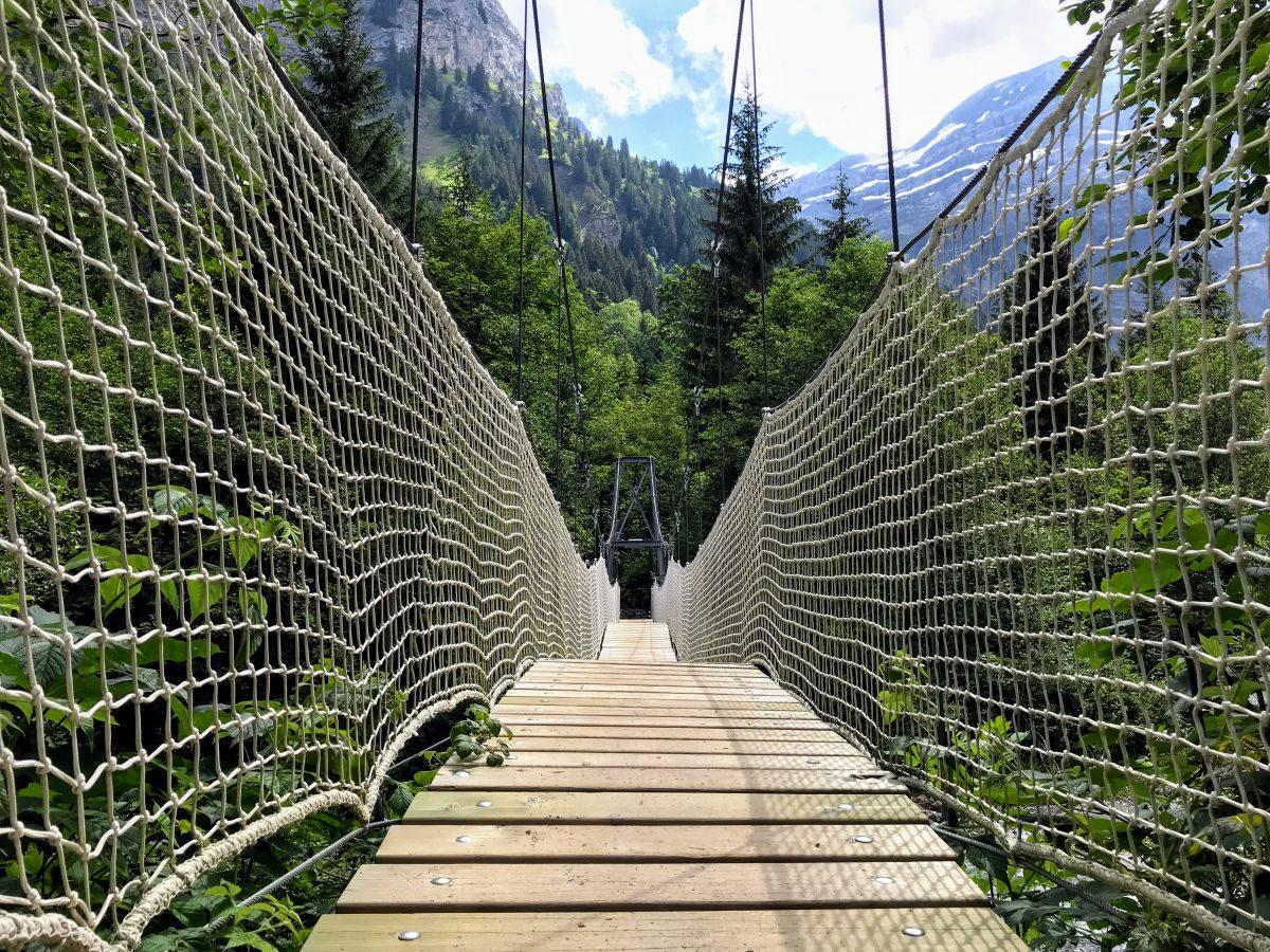 Hangbruggen in Zwitserland - La Passerelle suspendue