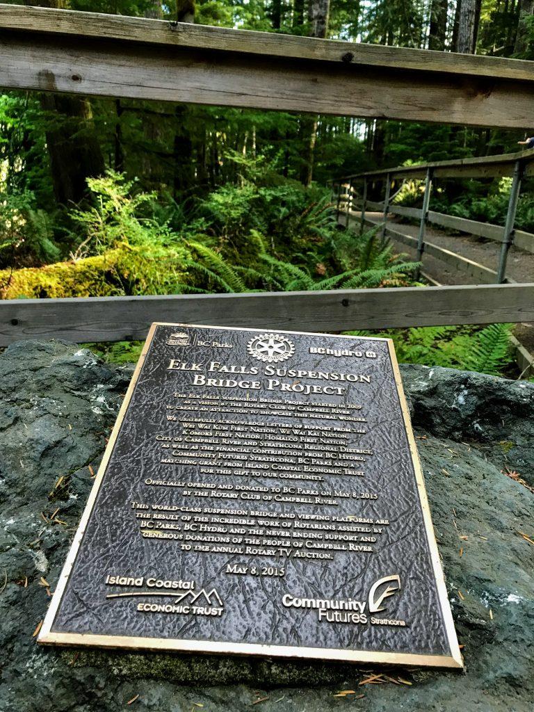 Gedenkplaat Elk Falls