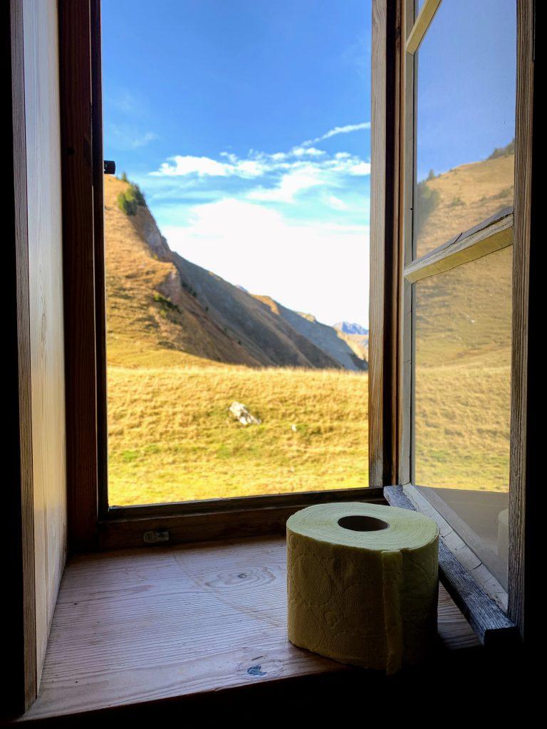 Uitzicht vanaf het toilet
