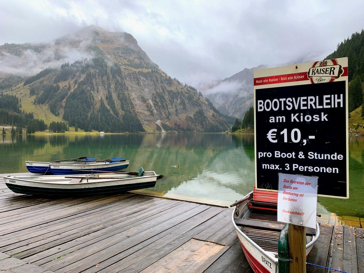 Bootsverleih Vilsalpsee Tannheim