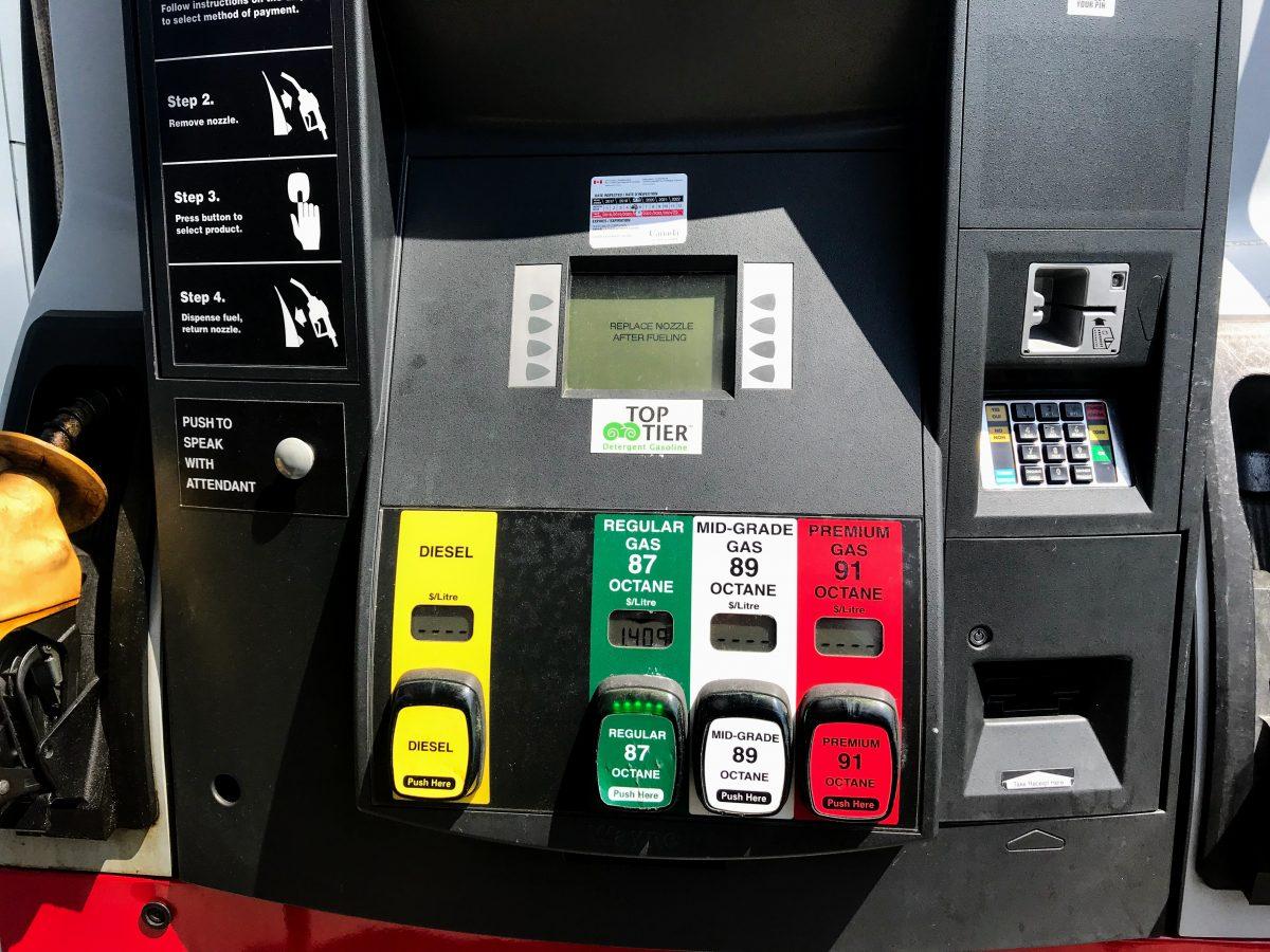 Benzine tanken in Canada