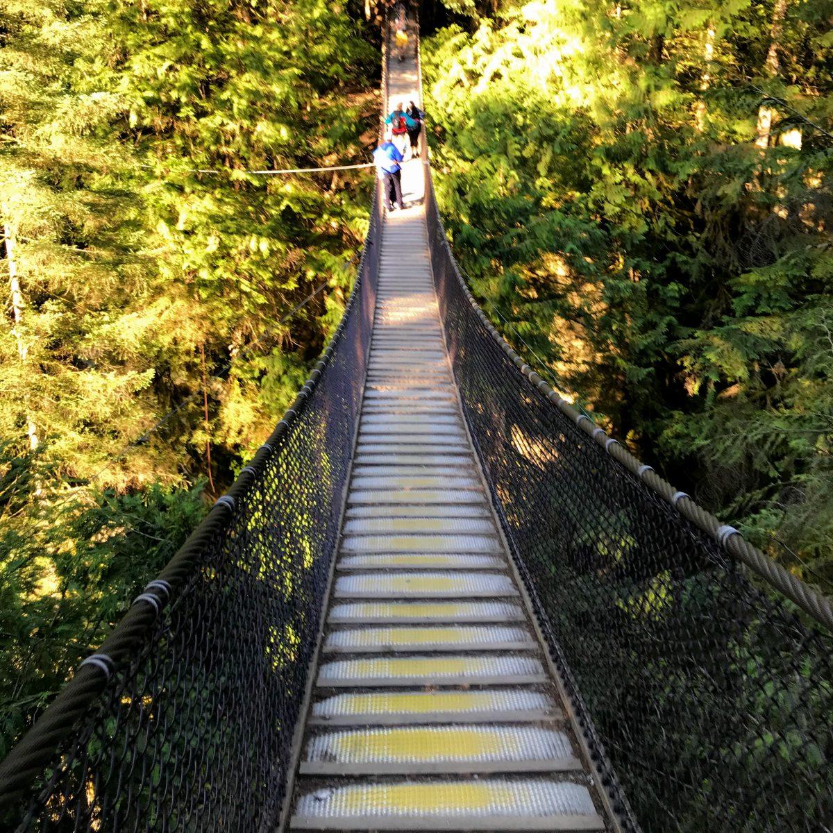 Hangbrug in de buurt van Vancouver