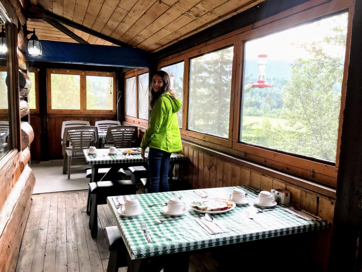 Helmcken Falls Lodge breakfast