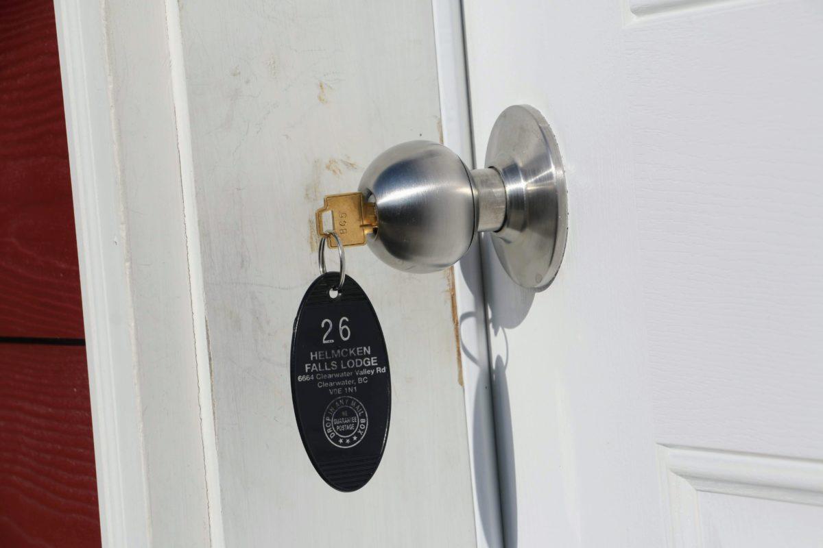 sleutel op deur helmcken falls lodge