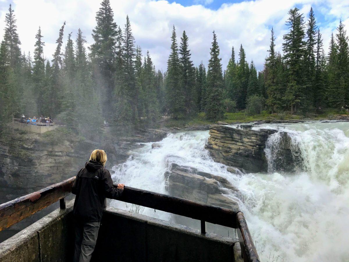 Uitkijkplatform Athabasca Falls