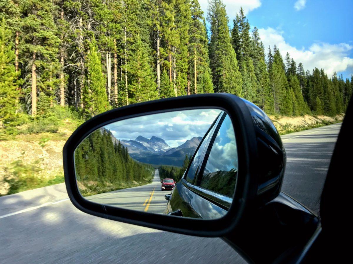 Route van Jasper naar Lake Louise