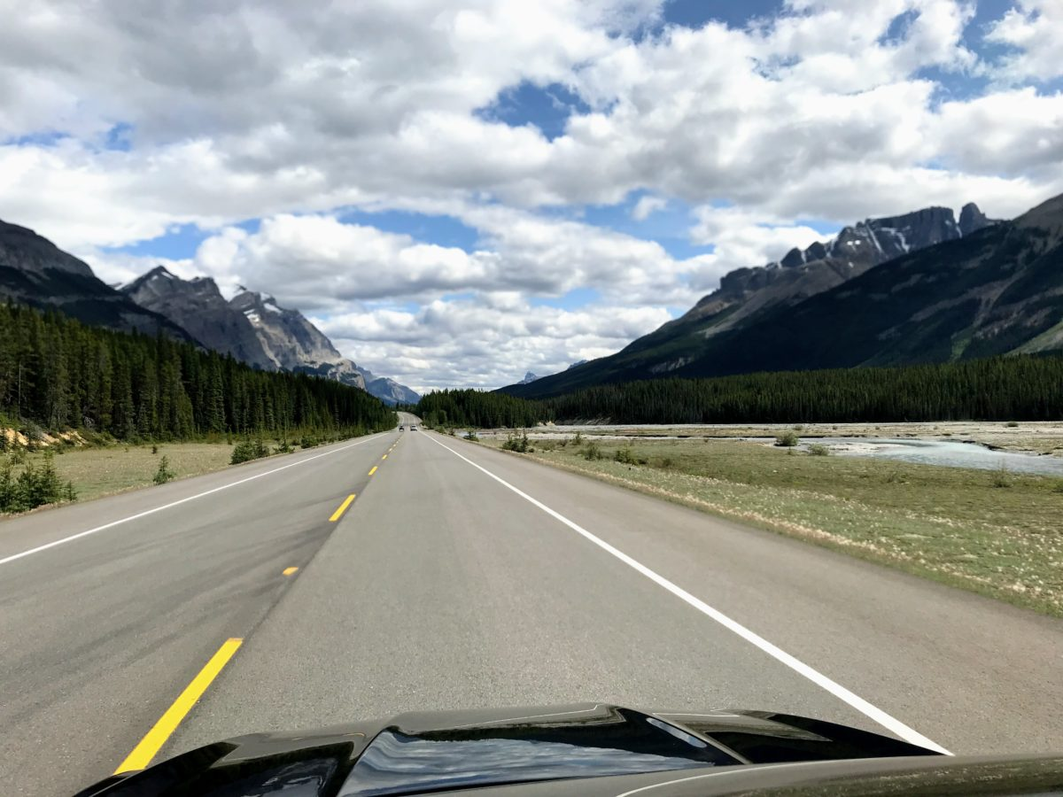 Icefields Parkway route