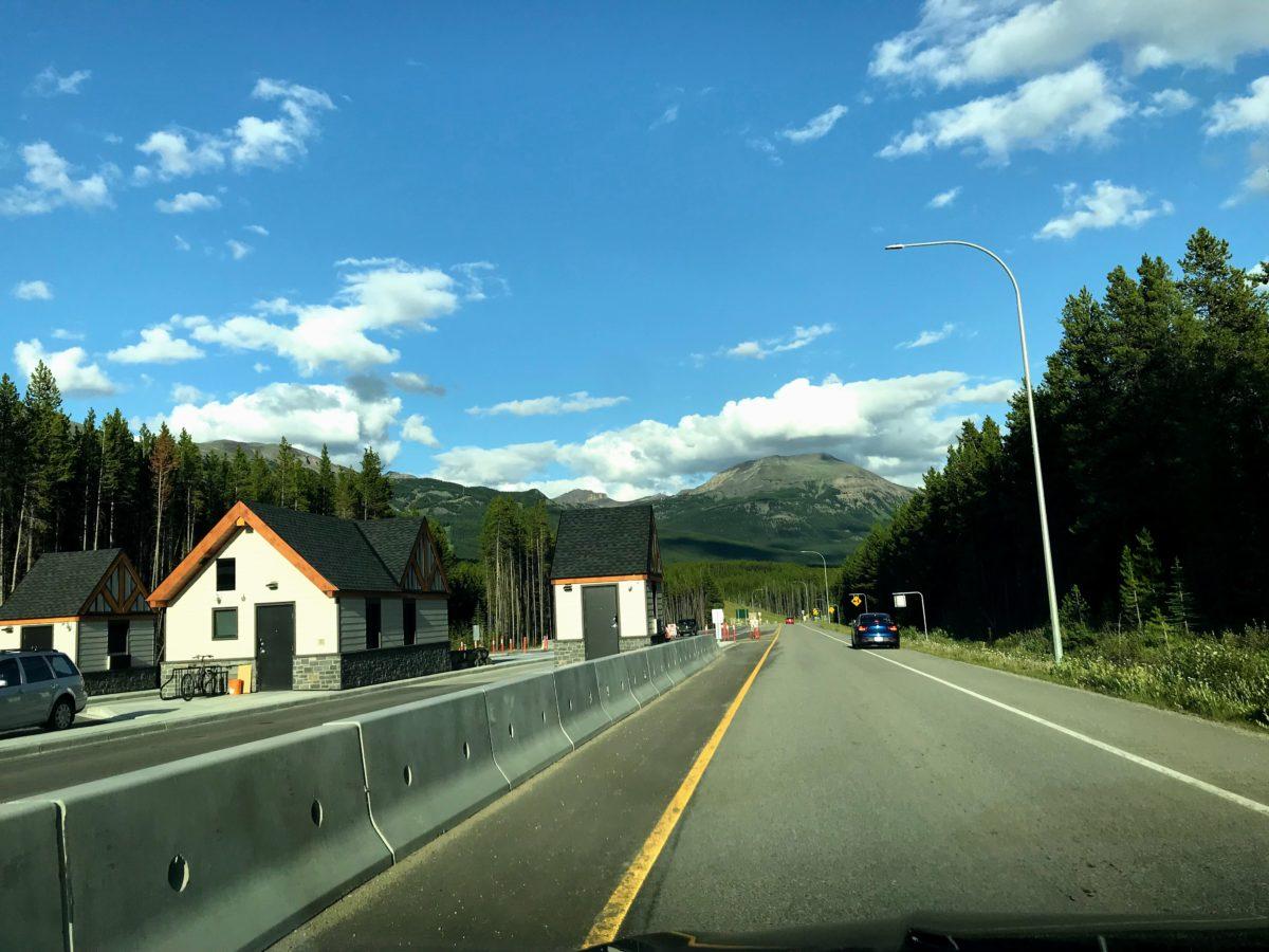 Route naar Lake Louise