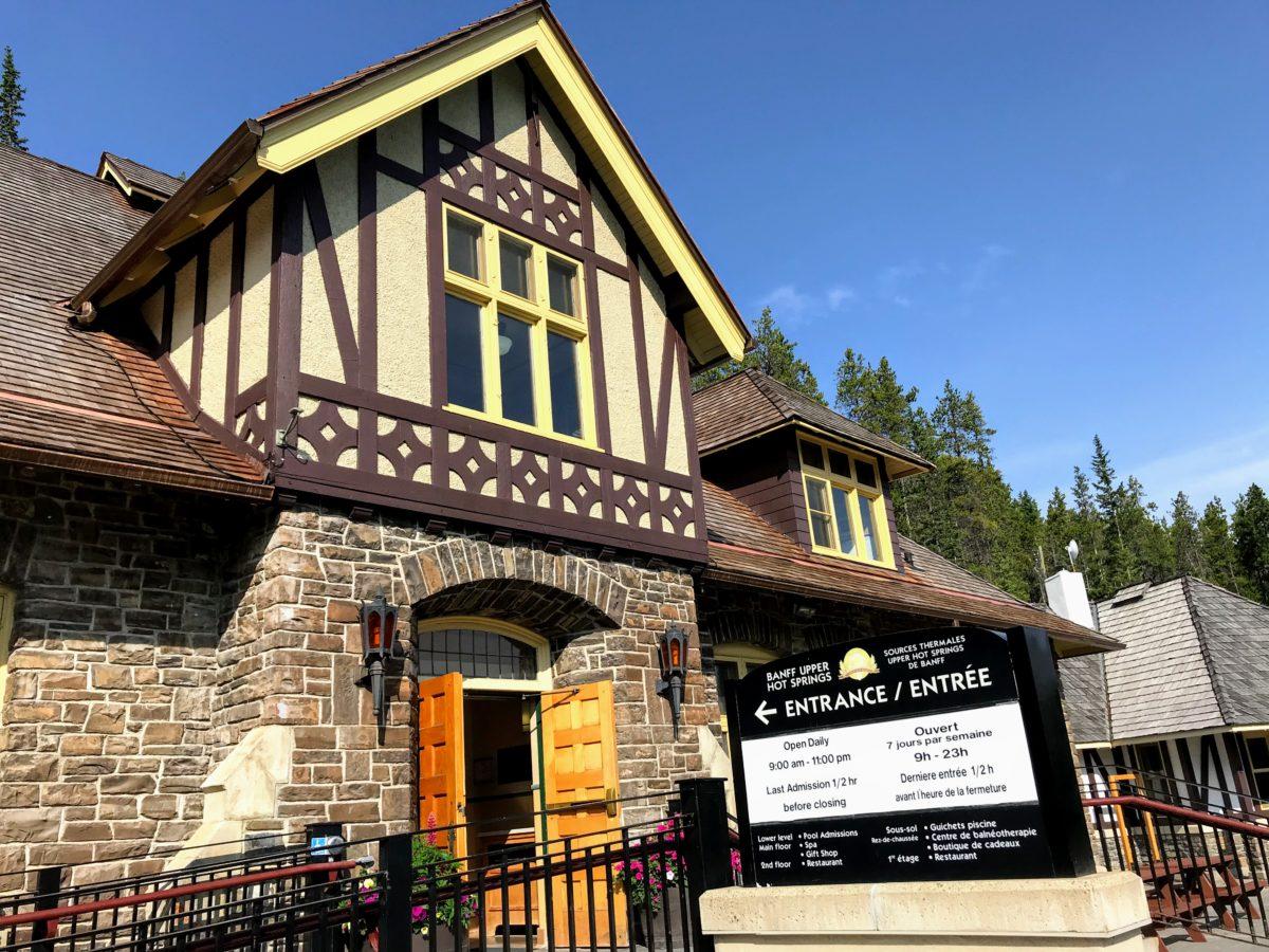 Banff Upper Hot Springs entrance