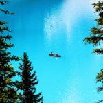 Op Moraine Lake kano varen