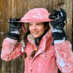 Protest ski jas getest in een sneeuwstorm