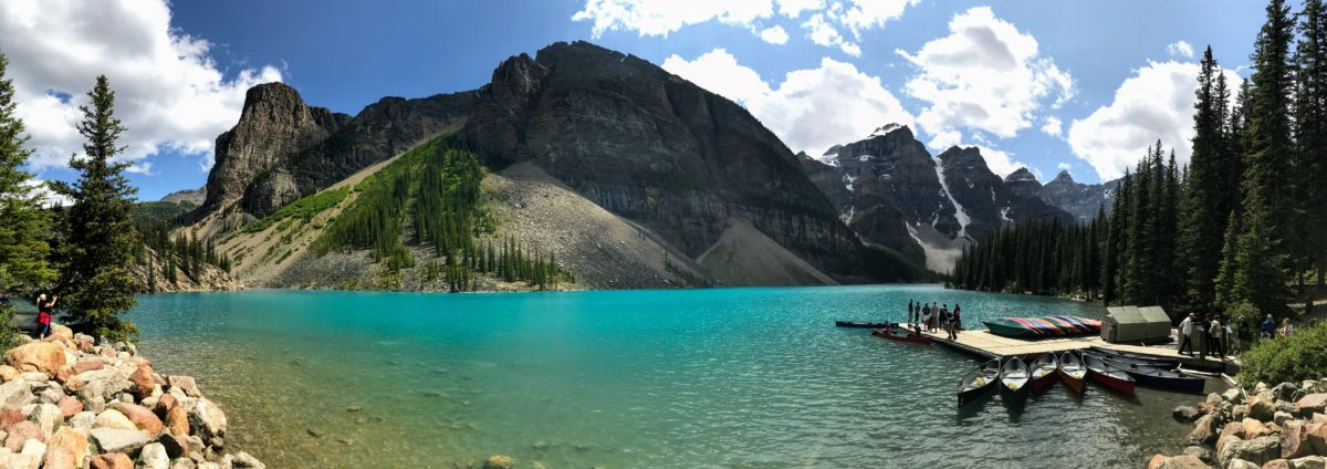 Kanovaren op Moraine Lake